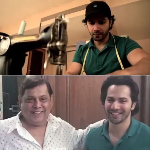 Varun Dhawan Stitches Up A Special Birthday Present For His Papa David Watch Video